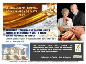 Celebración Bodas de Oro y Plata Matrimoniales 2020
