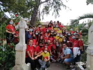 Alumnos de Religión de Casasimarro y Sisante colaboran en el acondicionamiento de las huertas del Monasterio de las Clarisas de Sisante